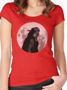 Mononoke black and white moon Women's Fitted Scoop T-Shirt