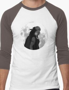 Mononoke black and white moon Men's Baseball ¾ T-Shirt