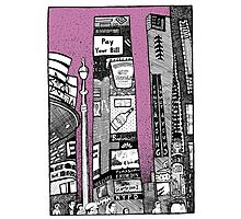NEW YORK Times Square in purple Photographic Print
