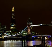 The Shard and Tower Bridge by DavidHornchurch