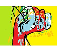 Multi-coloured abstract hand -(040413)- Digital art/mouse drawn/MS Paint Photographic Print