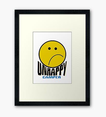 Unhappy Camper Framed Print