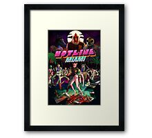 Hotline Miami Cover Framed Print
