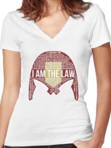 Judge Dredd Typography Women's Fitted V-Neck T-Shirt