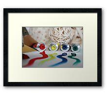 An Artist's Palette Framed Print