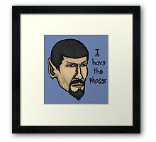 Evil Spock Framed Print