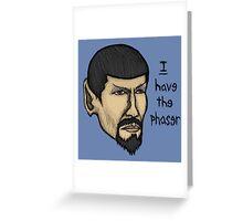Evil Spock Greeting Card