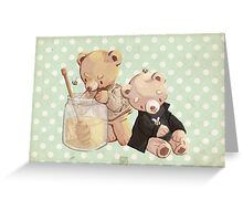 honey bees and holmes bears Greeting Card