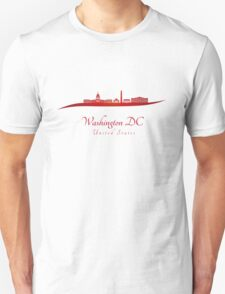 Washington DC skyline in red T-Shirt