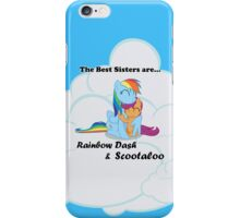 Best Sisters Rainbow and Scootaloo iPhone iPhone Case/Skin