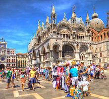Venice Italy street vendors HDR by Paul Huggins