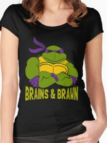 Brains & Brawn Women's Fitted Scoop T-Shirt