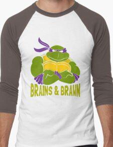 Brains & Brawn Men's Baseball ¾ T-Shirt