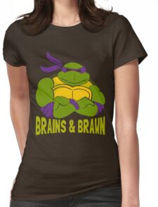 Brains & Brawn Womens Fitted T-Shirt