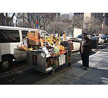 New York Street Vendor Photographic Print