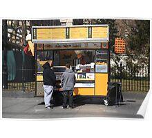 New York Street Vendor Poster