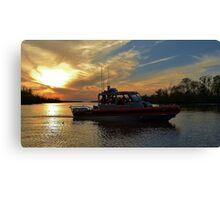 Sunset Patrol   USCG Canvas Print