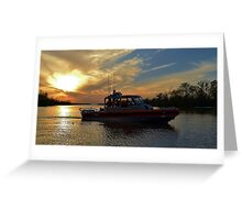 Sunset Patrol   USCG Greeting Card
