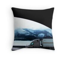 Sharing The Road...A passenger's view through the window Throw Pillow
