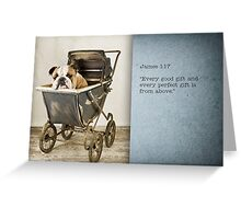 Christian, new baby Greeting Card