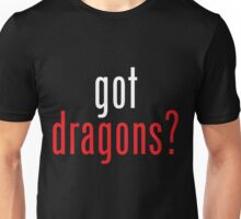 got dragons? - white&red Unisex T-Shirt