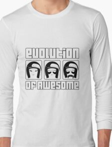 Evolution of Awesome! Long Sleeve T-Shirt