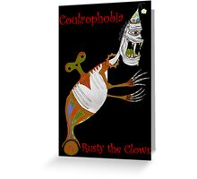 Rusty The Clown Greeting Card
