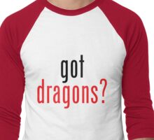 got dragons? - black&red Men's Baseball ¾ T-Shirt