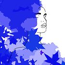 Purple and blue hearts 2 by Gunes Yilmaz