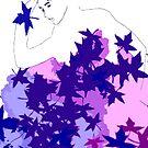 Purple and blue hearts 3 by Gunes Yilmaz