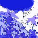 Purple and blue hearts 6 by Gunes Yilmaz