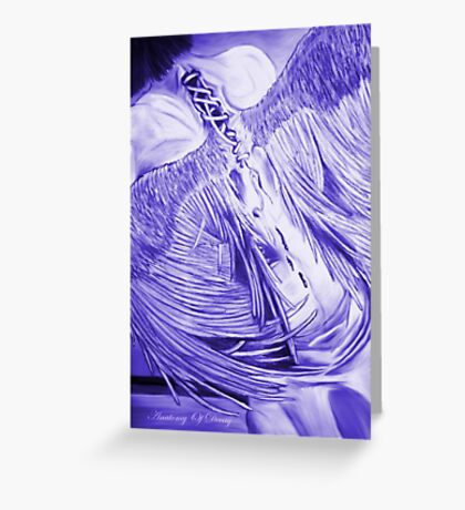 Purple Decay Greeting Card