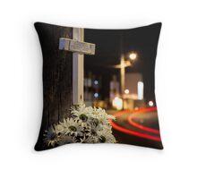 Roadside memorials #1 Throw Pillow