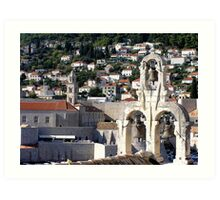 the other colours of dubrovnik Art Print