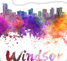 Windsor skyline in watercolor Sticker