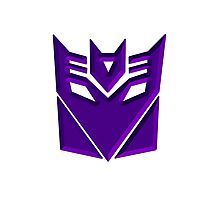 Decepticon Symbol Photographic Print