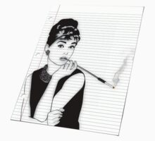 Audrey Notebook Paper by nealcampbell