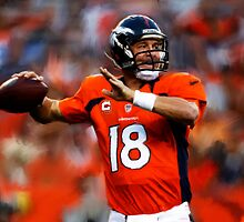 Denver Broncos Peyton Manning by art-hammer