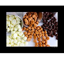 Nestle Premier White, Butter-Scotch And Milk Chocolate Morsels Photographic Print