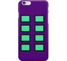 Green and White - Purple background iPhone Case/Skin