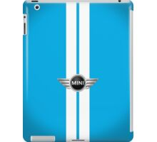 Laser Blue White stripes-ipad iPad Case/Skin