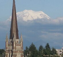Mt. Rainier from Tacoma by Kathleen Hamilton