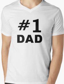 Number One Dad Mens V-Neck T-Shirt