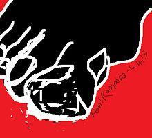 Foot -(040413)- Digital art/mouse drawn/Microsoft Paint by paulramnora