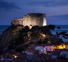 Dubrovnik Castle at night by Philip Kearney