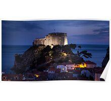 Dubrovnik Castle at night Poster