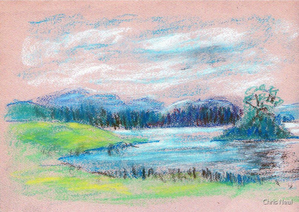 Pastel Landscape sketch by ChrisNeal