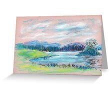 Pastel Landscape sketch Greeting Card
