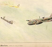 Bristol Blenheim Sketch  by ChrisNeal