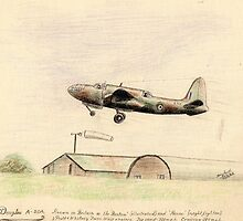 "Douglas A-20A ""the Boston"" sketch by ChrisNeal"